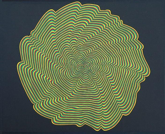 Felix Thyes, In Extremis, 2011, Acryl auf Holz, 50 x 40 cm