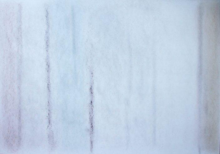 Felix Thyes, Winter (aus 4 Jahreszeiten), 2012, Wachs/Pastell, 70 x 100 cm