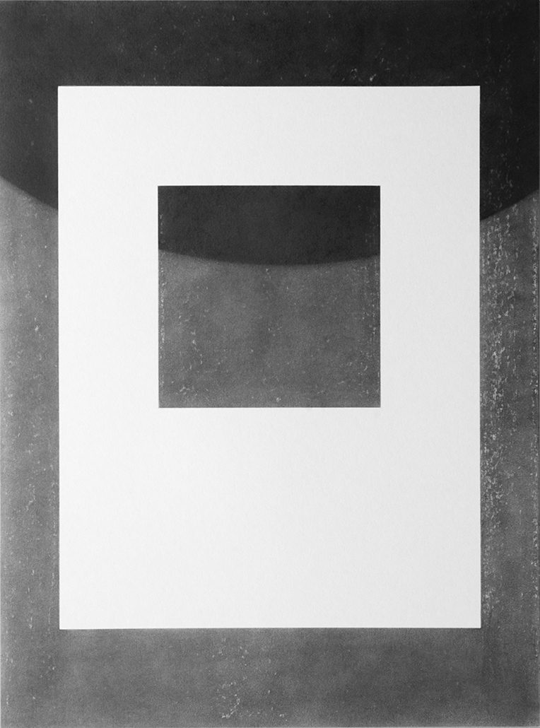 Felix Thyes, Bedrohlicher Schatten I, 2012, Wachs + Grafit auf Papier, 54 x 78,5 cm