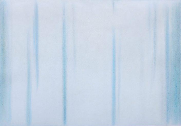 Felix Thyes, Winter 2 (aus 4 Jahreszeiten), 2015, Wachs/Pastell/Kohle auf Papier, 100 x 70 cm