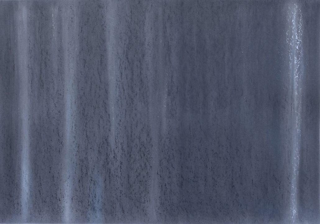 Felix Thyes, Winter 3 (aus 4 Jahreszeiten), 2015, Wachs/Pastell/Kohle auf Papier, 100 x 70 cm