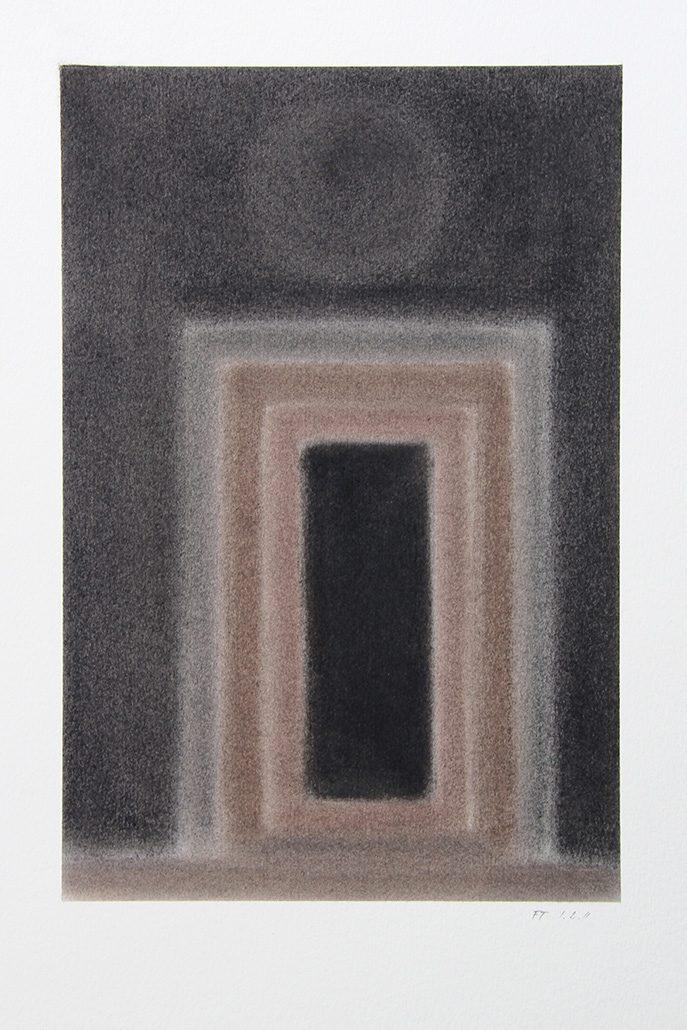 Felix Thyes, Scheintor 1, 2011, Pastell auf Papier, 24 x 36 cm (Blatt 36 x 48 cm)