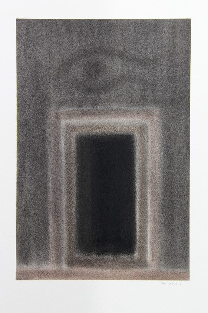 Felix Thyes, Scheintor 2, 2011, Pastell auf Papier, 24 x 36 cm (Blatt 36 x 48 cm)