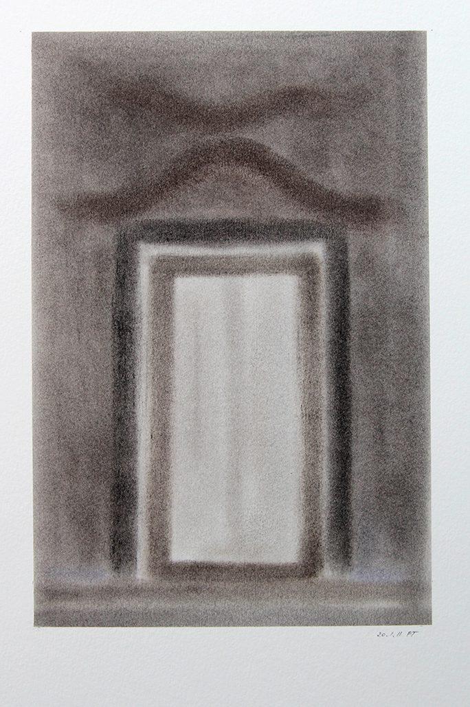 Felix Thyes, Scheintor 3, 2011, Pastell auf Papier, 24 x 36 cm (Blatt 36 x 48 cm)