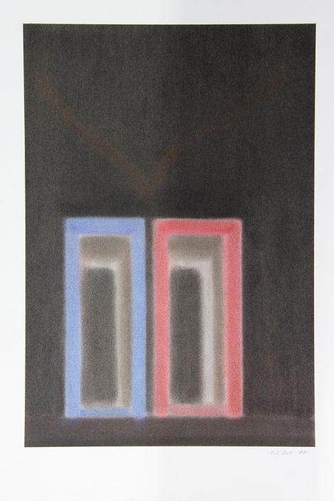 Felix Thyes, Ohne Titel, 2011, Pastell auf Papier, 30 x 43.5 cm (Blatt 42 x 56 cm)