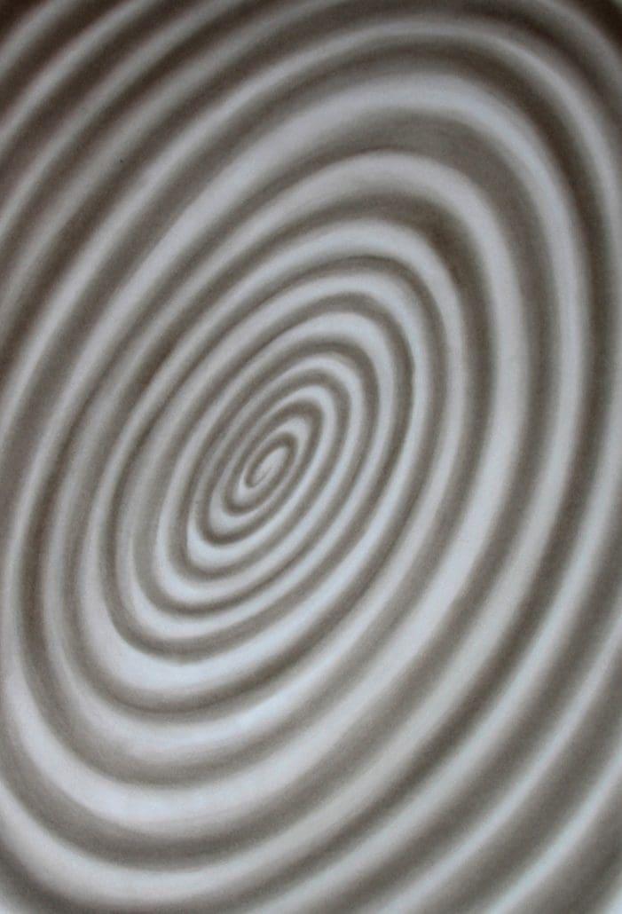 Felix Thyes, Alphornklang, 2013, Pastell + Kohle auf Papier, 100 x 70 cm