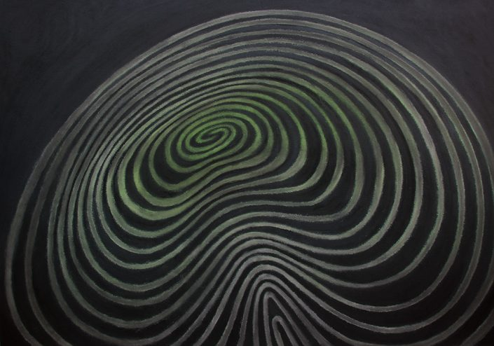 Felix Thyes, Regilaul, 2013, Pastell auf Papier, 100 x 70 cm