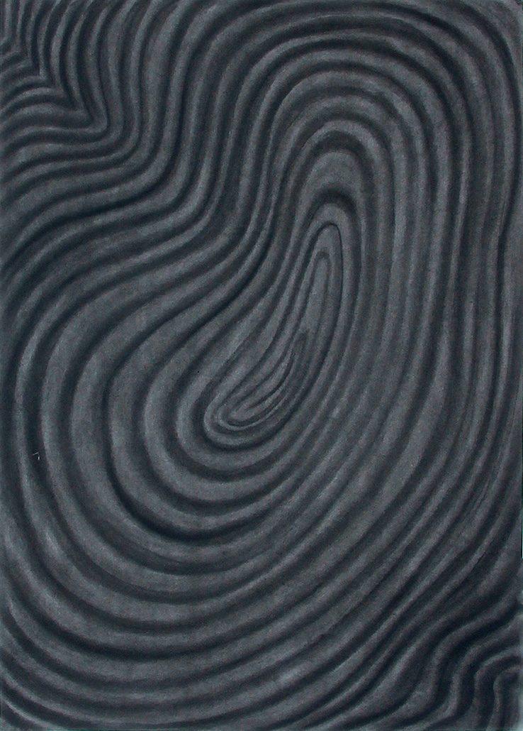 Felix Thyes, Spirale 2, 2017, Kohle auf Papier, 65 x 95 cm (Papier 70 x 100 cm)