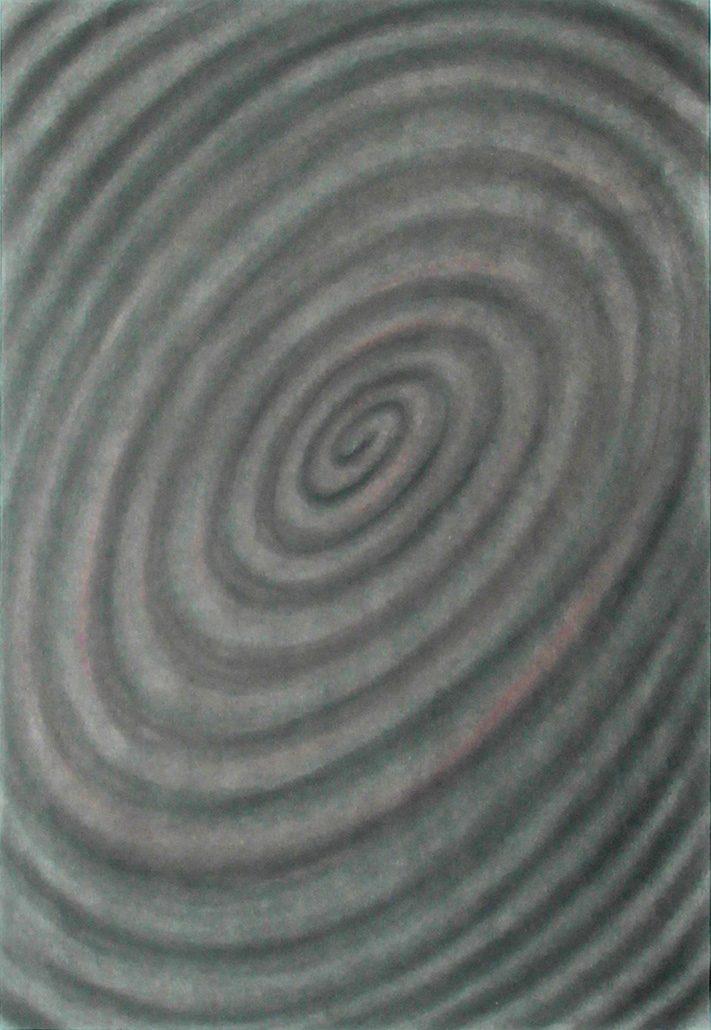 Felix Thyes, Spirale 3, 2017, Kohle auf Papier, 65 x 95 cm (Papier 70 x 100 cm)