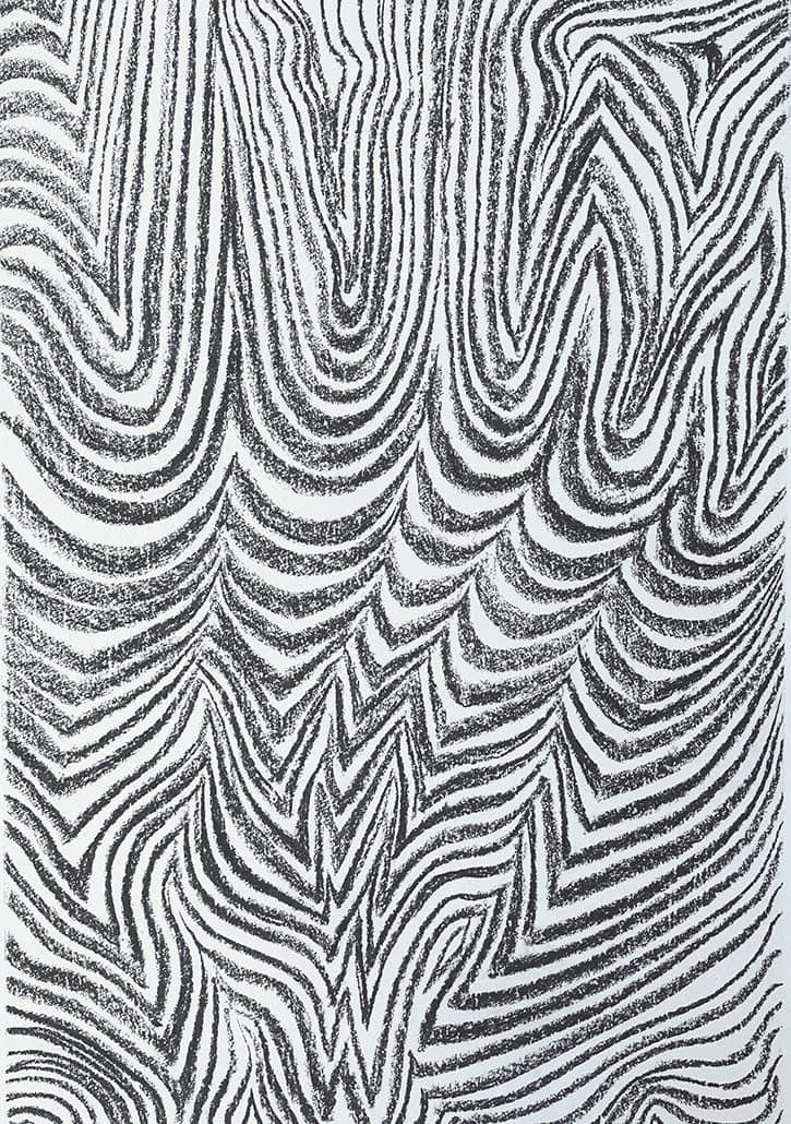 Felix Thyes, Feuer und Luft, 2017, Kohle auf Papier, 100 x 70 cm