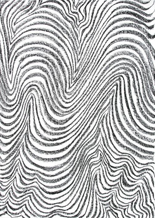 Felix Thyes, Rauf und runter, 2017, Kohle auf Papier, 70 x 50 cm
