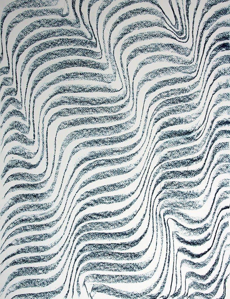 Felix Thyes, Ohne Titel, 2017, Blockkreide auf Papier, 65,5 x 50 cm