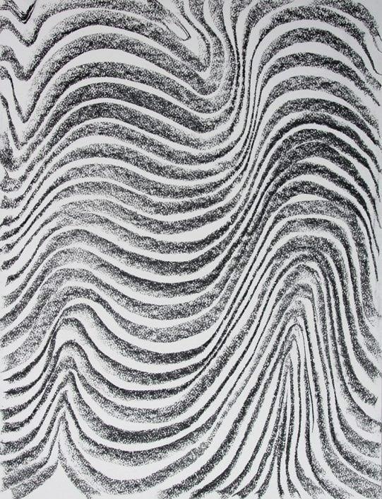Felix Thyes, Ohne Titel, 2017, Kohle auf Papier, 70 x 50 cm