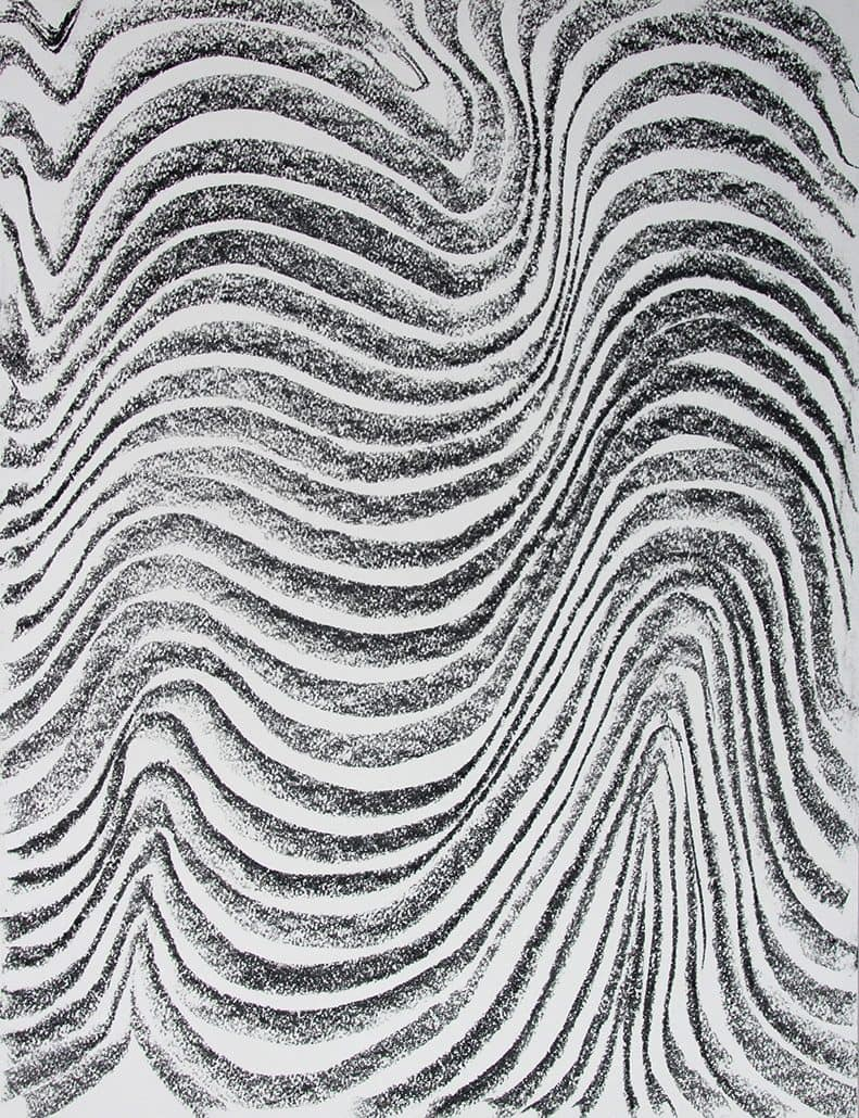 Felix Thyes, Ohne Titel, 2017, Kohle auf Papier, 65,5 x 50 cm