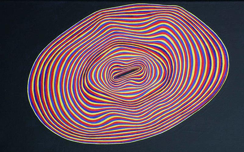 Felix Thyes, Im Gleichgewicht, 2010, Acryl auf Leinwand, 60 x 30 cm