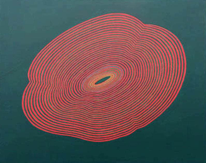 Felix Thyes, Kleine Störungen, 2011, Acryl auf Holz, 50 x 40 cm