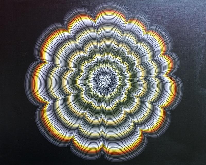 Felix Thyes, Pulsar, 2011, Acryl auf Holz, 50 x 40 cm