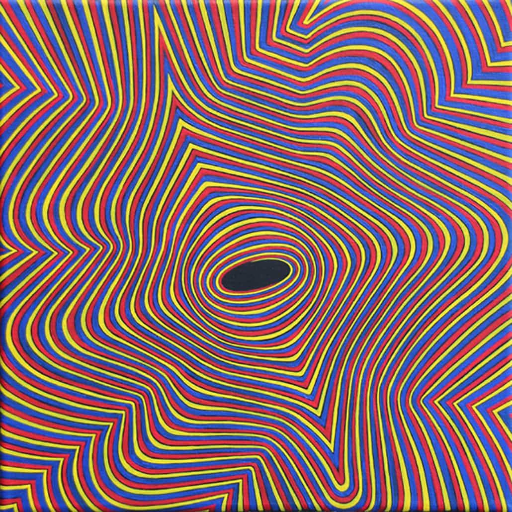 Felix Thyes, 3S-0743, 2013, Acryl auf Leinwand, 30 x 30 cm