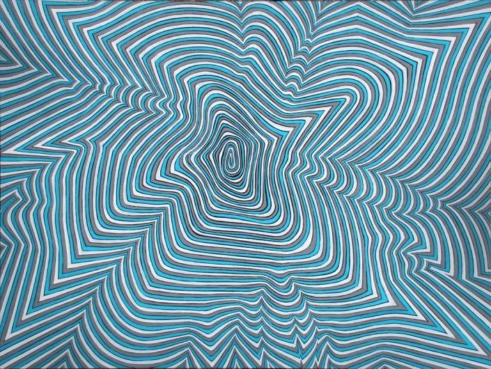 Felix Thyes, Campus novus 2, 2013, Acryl auf Holz, 30 x 40 cm