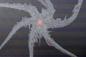 Felix Thyes, Philae auf Tschuri, 2014, Acryl auf Leinwand, 120 x 80 cm