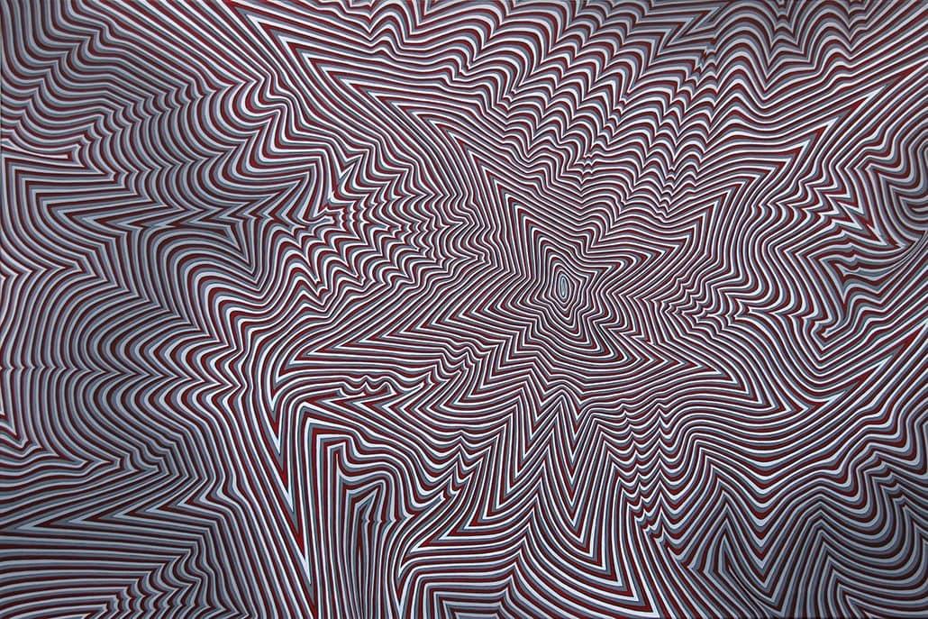Felix Thyes, ad infinitum, 2014, Acryl auf Leinwand, 120 x 80 cm