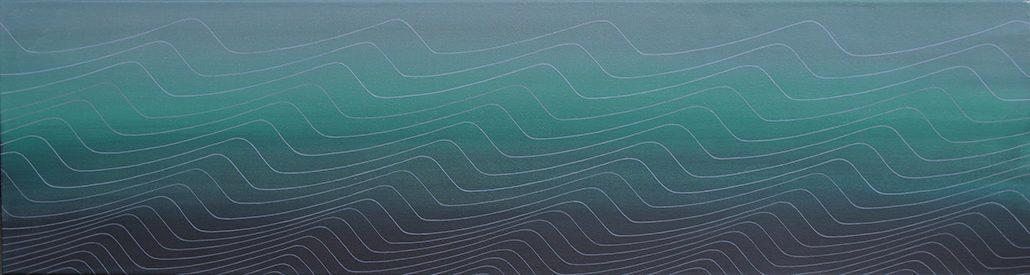 Felix Thyes, Beni Barca, 2015, Acryl auf Leinwand, 150 x 40 cm