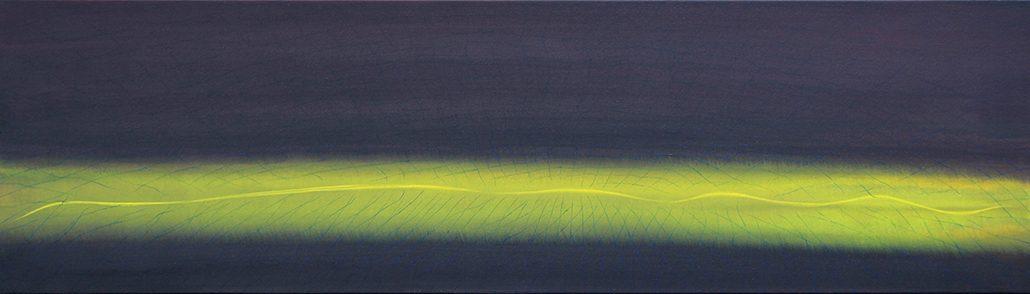 Felix Thyes, Drei Schichten, 2015, Acryl auf Leinwand, 140 x 40 cm