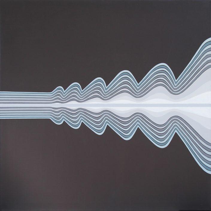 Felix Thyes, Ein grader Schuss, 2015, Acryl auf Leinwand, 80 x 80 cm