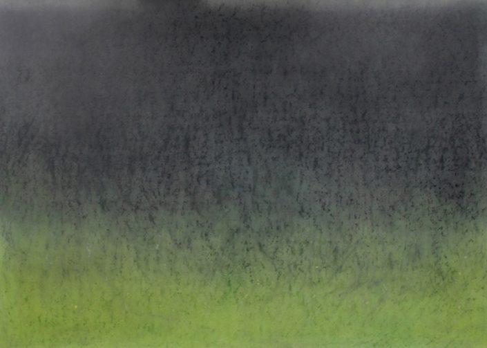 Felix Thyes, Aurora borealis, 2013, Wachs und Pastell auf Papier, 100 x 70 cm