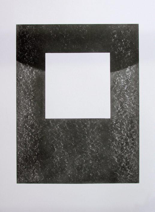 Felix Thyes, Bedrohlicher Schatten II, 2013, Wachs + Grafit auf Papier, 54 x 78,5 cm