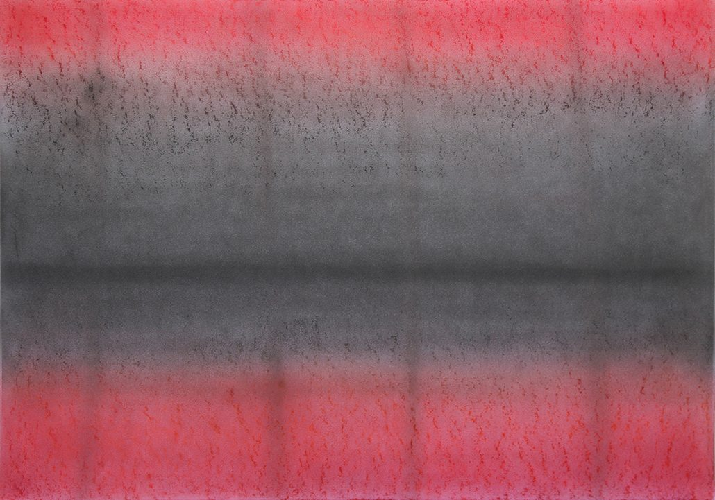 Felix Thyes, Fenster nach innen, 2015, Wachs und Pastell auf Papier, 100 x 70 cm