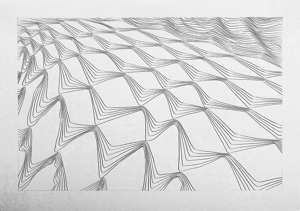 Felix Thyes, ohne Titel, 2014, Bleistift auf Papier, 29,7 x 42 cm