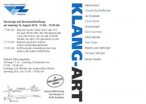 KLANG-ART 2014 Einladung