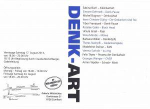 DENK-ART 2014 Einladung zur Ausstellung