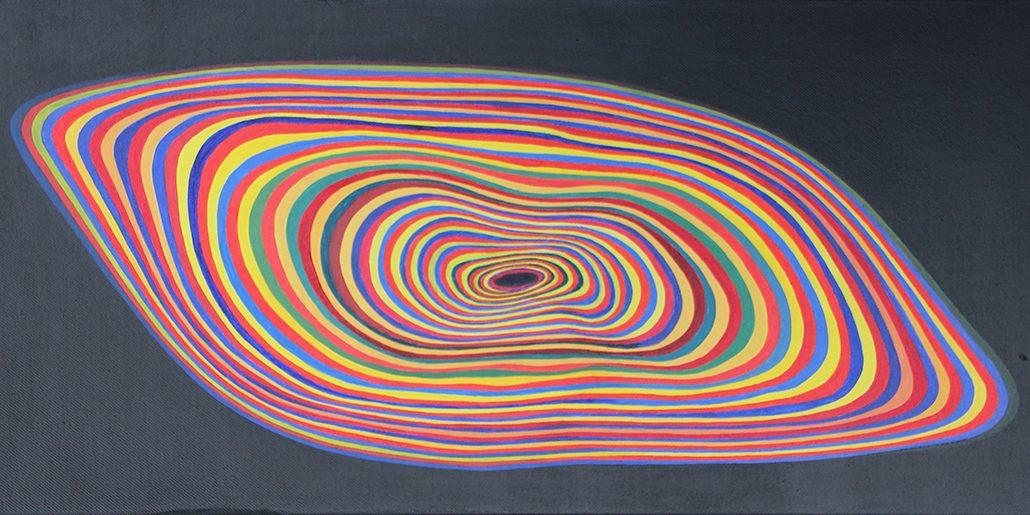 Felix Thyes, Schwarzes Loch, 2010, Acryl auf Leinwand, 60 x 30 cm