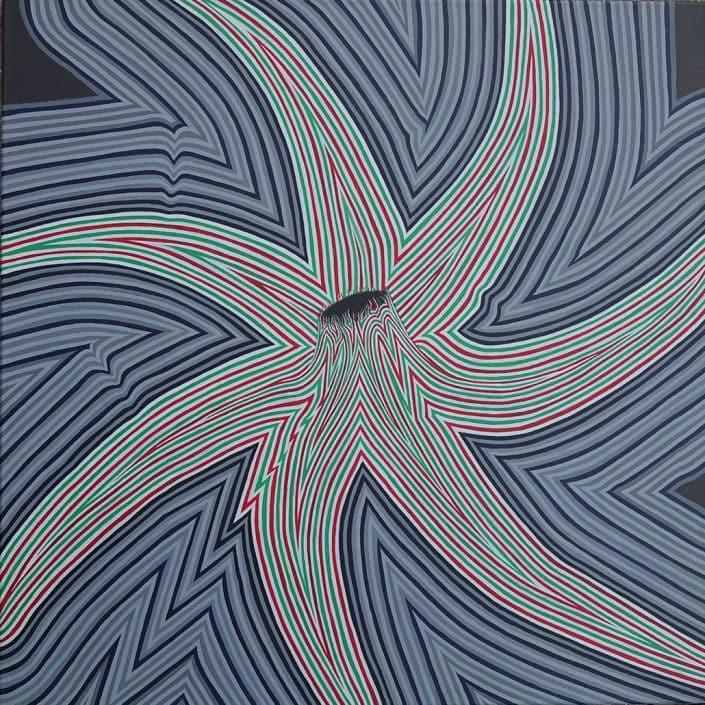 Felix Thyes, Hagupit, 2016, Acryl auf Leinwand, 80 x 80 cm