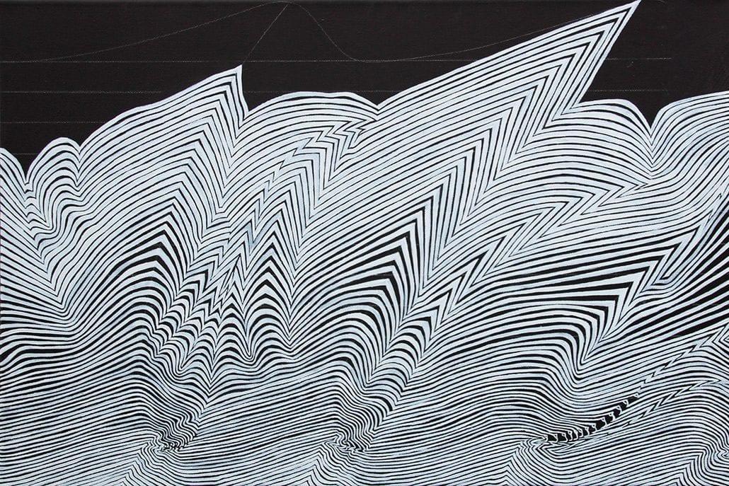 Felix Thyes, Gross Windgällen, 2016/2017, Acryl auf Leinwand, 40 x 60 cm