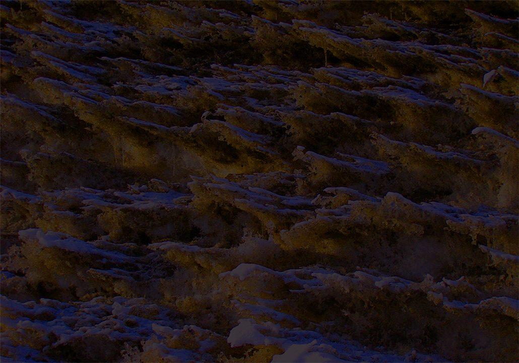 Felix Thyes, Leuchtender Schnee, 2011, Fotografie (bearbeitet), 50 x 35 cm