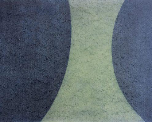 Felix Thyes, Wanderschatten, 5-teilig, 2, 2013, Graphit und Pastell auf Papier, je 36 x 48 cm