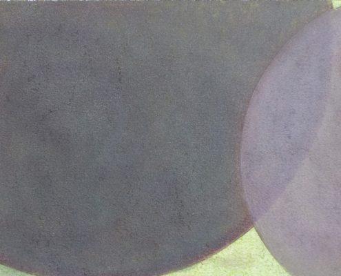 Felix Thyes, Wanderschatten, 9-teilig, 4, 2017, Graphit und Pastell auf Papier, je 21 x 30 cm