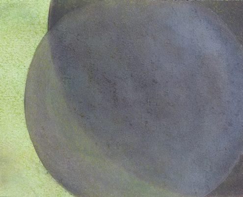 Felix Thyes, Wanderschatten, 9-teilig, 6, 2017, Graphit und Pastell auf Papier, je 21 x 30 cm