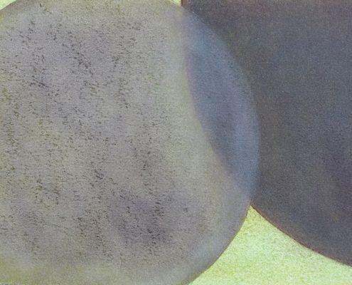 Felix Thyes, Wanderschatten, 9-teilig, 7, 2017, Graphit und Pastell auf Papier, je 21 x 30 cm