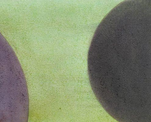 Felix Thyes, Wanderschatten, 9-teilig, 8, 2017, Graphit und Pastell auf Papier, je 21 x 30 cm