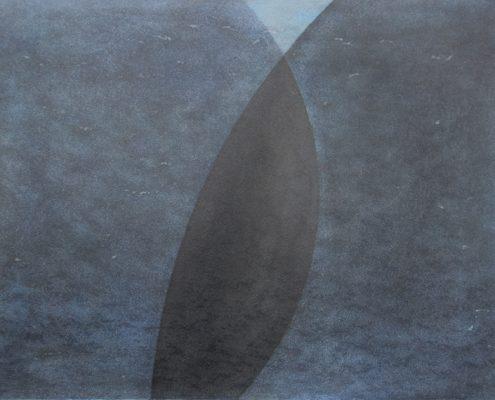 Felix Thyes, Schattenwanderung 3-teilig, 1, 2013, Wachs/Pastell auf Papier, 50 x 70 cm