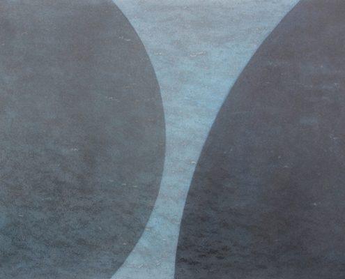 Felix Thyes, Schattenwanderung 3-teilig, 2, 2013, Wachs/Pastell auf Papier, 50 x 70 cm