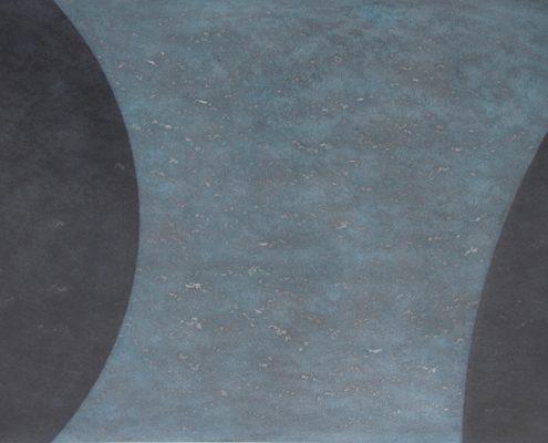 Felix Thyes, Schattenwanderung 3-teilig, 3, 2013, Wachs/Pastell auf Papier, 50 x 70 cm