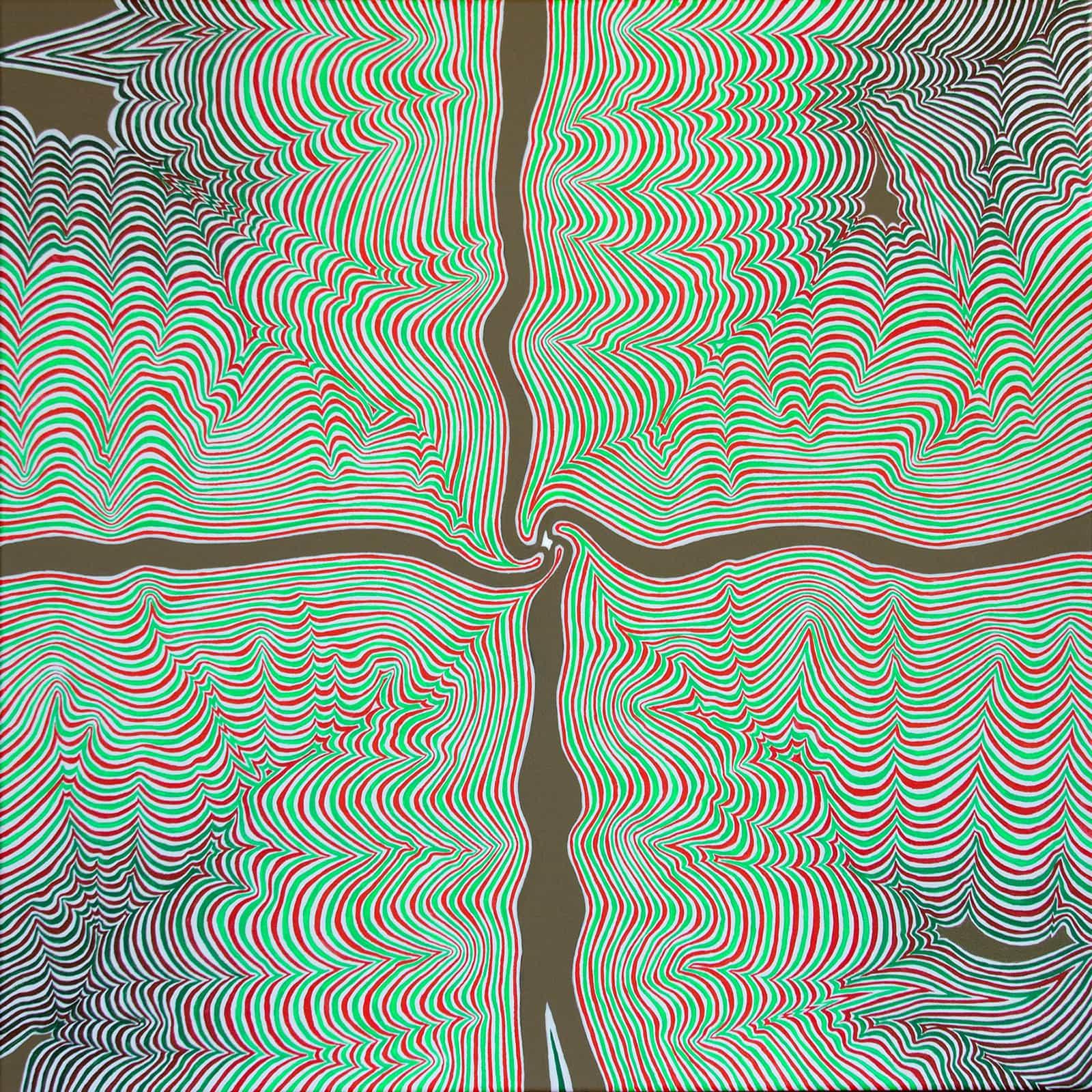 Felix Thyes, Paradies, September 2017, 80 x 80 cm, Acryl auf Leinwand
