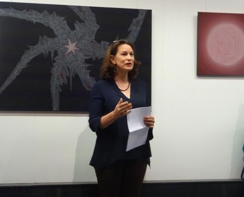 Felix Thyes - Ad Infinitum - 2019 - Eröffnung - Rede Rebecca Gericke. Foto © Tove Thyes, 2019.